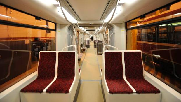 Interior of new TTC streetcar