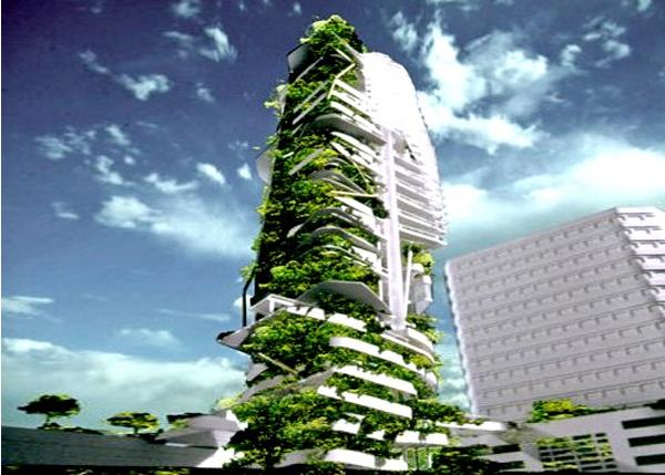 Singapore skyscraper trees
