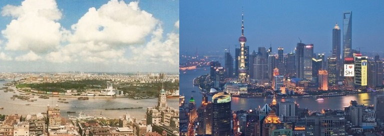Shanghai in 1990 and 2010-1