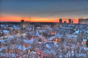 Flickr photo Snowy Toronto sunset by detsang