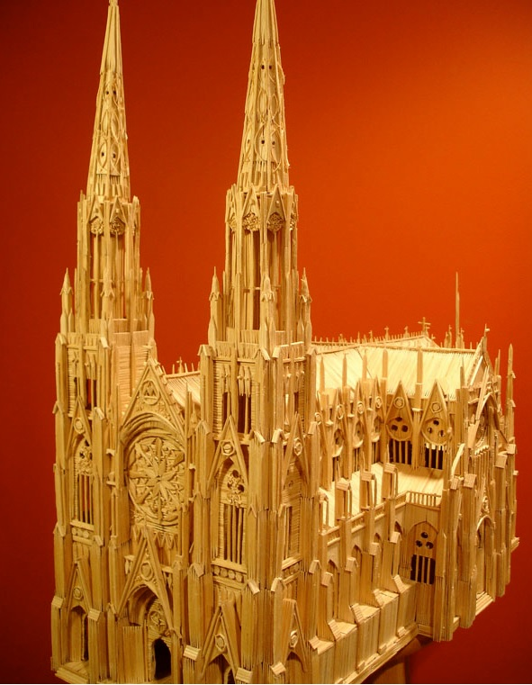 Toothpick St. Patrick's Cathedral