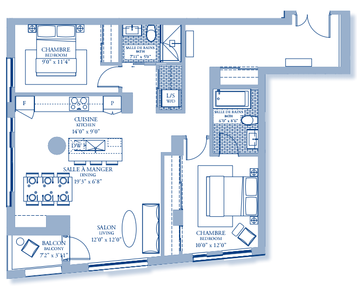 Tour des Canadiens floor plan penthouse