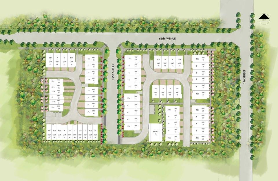 Zen Townhome plan in Surrey