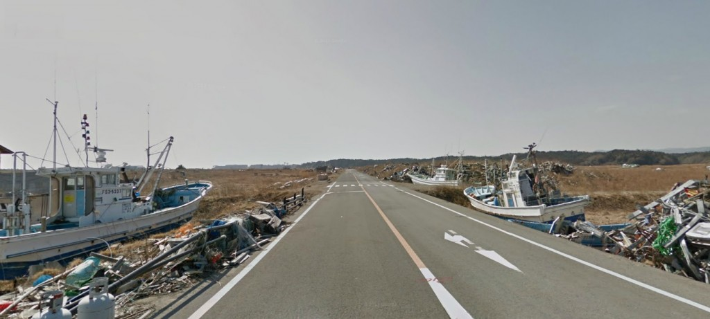 google street view japan nuclear town