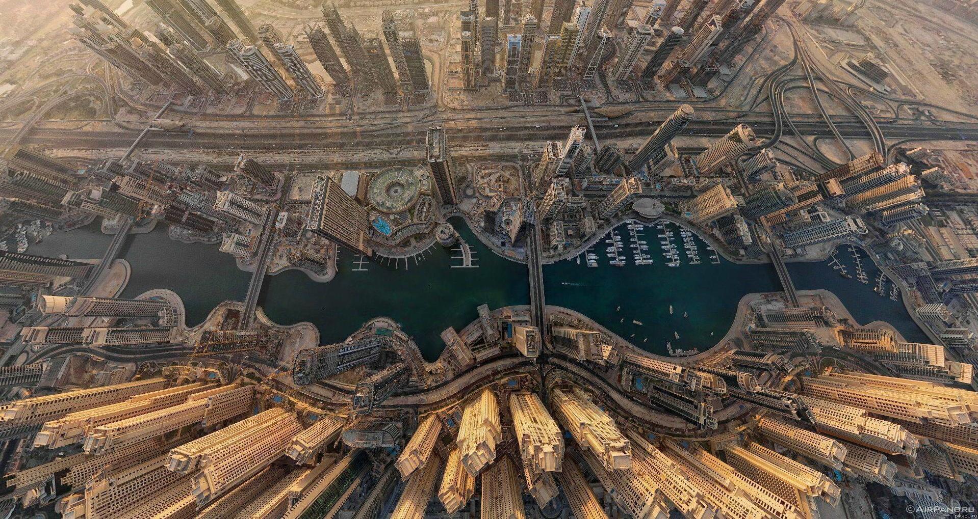 Dubai aerial shot