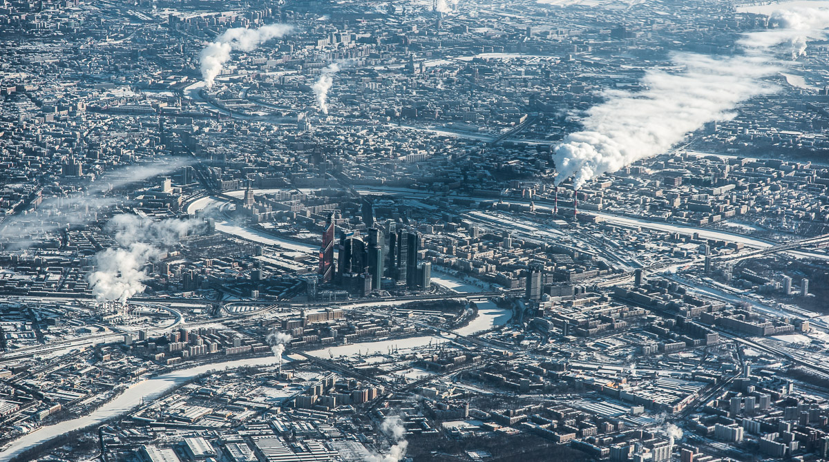 Moscow aerial shot