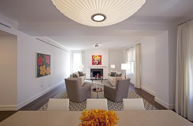 150 East 72nd living room 2