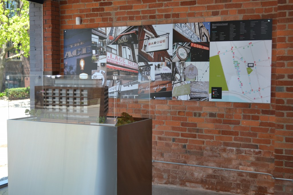 383 Sorauren's urban-chic presentation centre sings to the Roncesvalles community vibe.