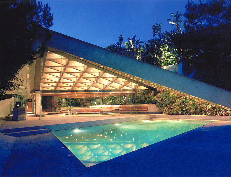The Sheats Goldstein Residence was used in several movies, the most memorable being Charlie's Angels Full Throttle.