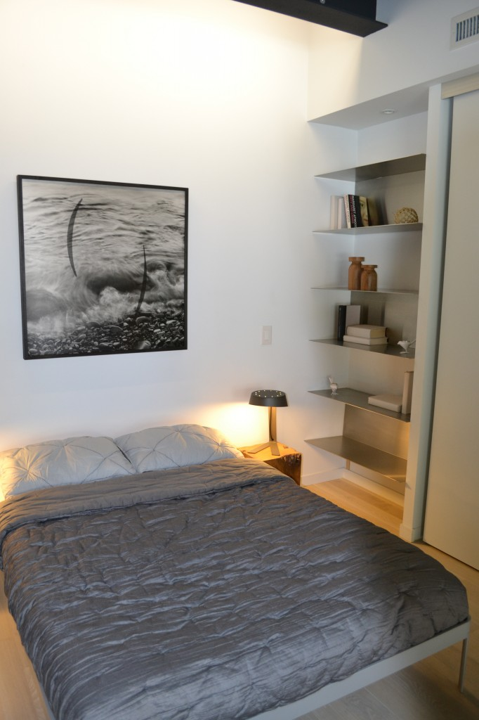 The second bedroom is spacious and can be used as an office or nook as well.