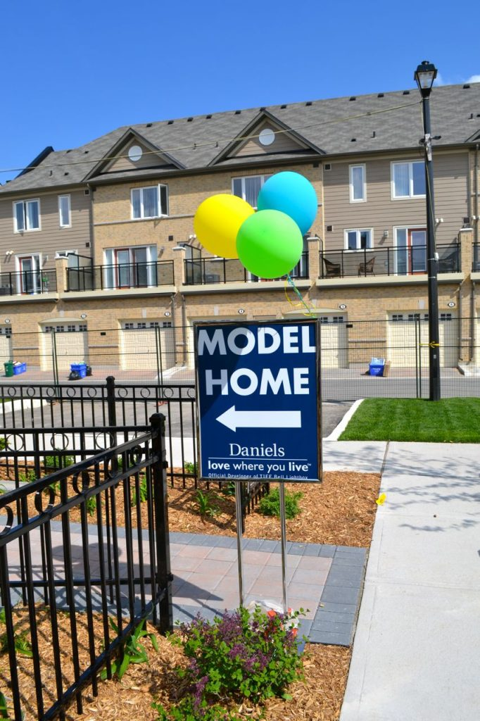 Several model homes were open so future purchasers could see exactly what they're getting.