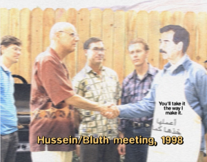 Saddam Hussein, the deposed dictator of Iraq, had several houses built by the Bluth Company.