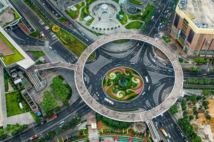 Lujiazui Circular Pedestrian Bridge China