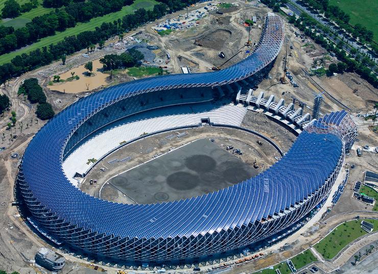 Taiwan's solar stadium