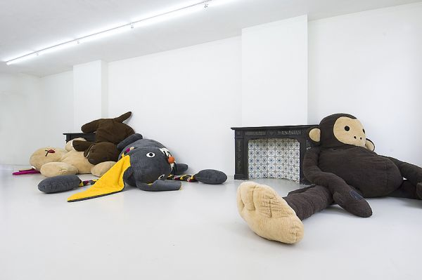 """This solo show """"Dushi"""" was inspired by children's toys, Hoffman used the change in size to show the change of their touch and function at a bigger scale."""
