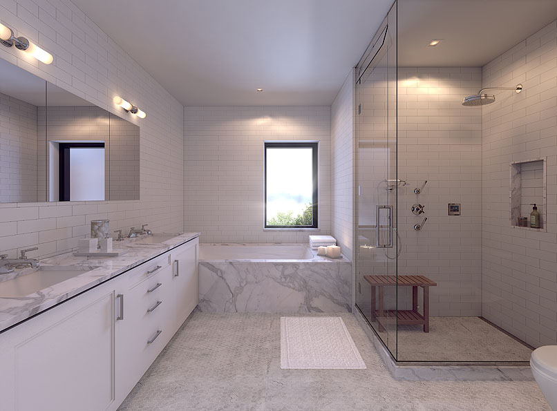 Townhouses Cobble Hill bathroom