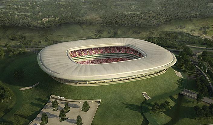 Volcano stadium mexico