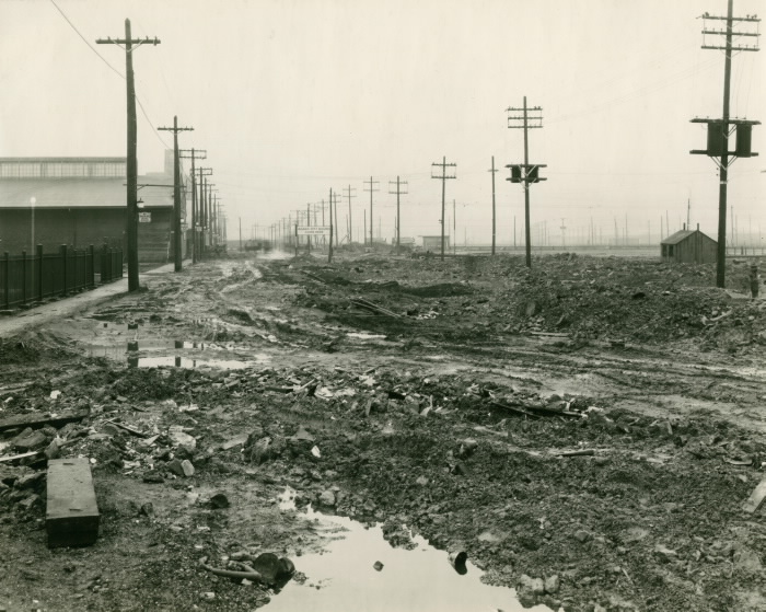 Queens Quay looking west from Bay Street, November 24, 1927.