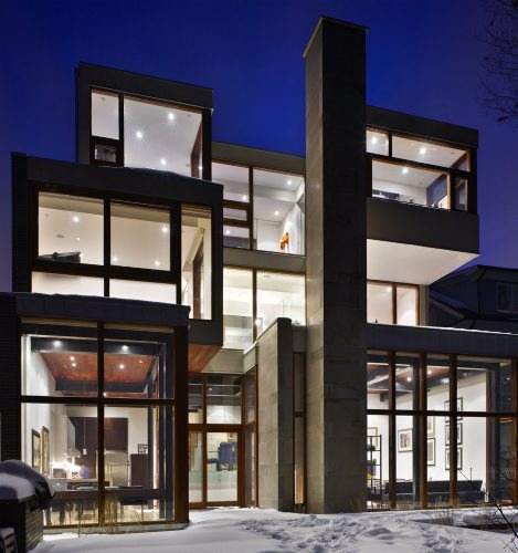This uber-modern ravine house is located in Toronto and is the starring home in the recent film, Chloe.