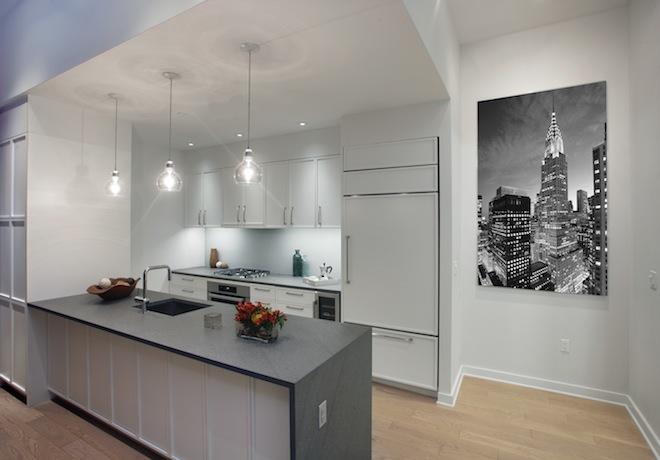 160 East 22nd model kitchen