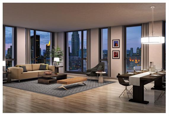 160 east 22nd living room
