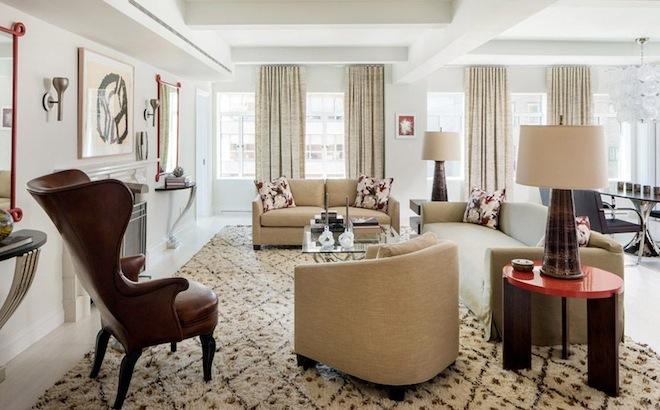 737 Park Avenue living room Jed Johnson