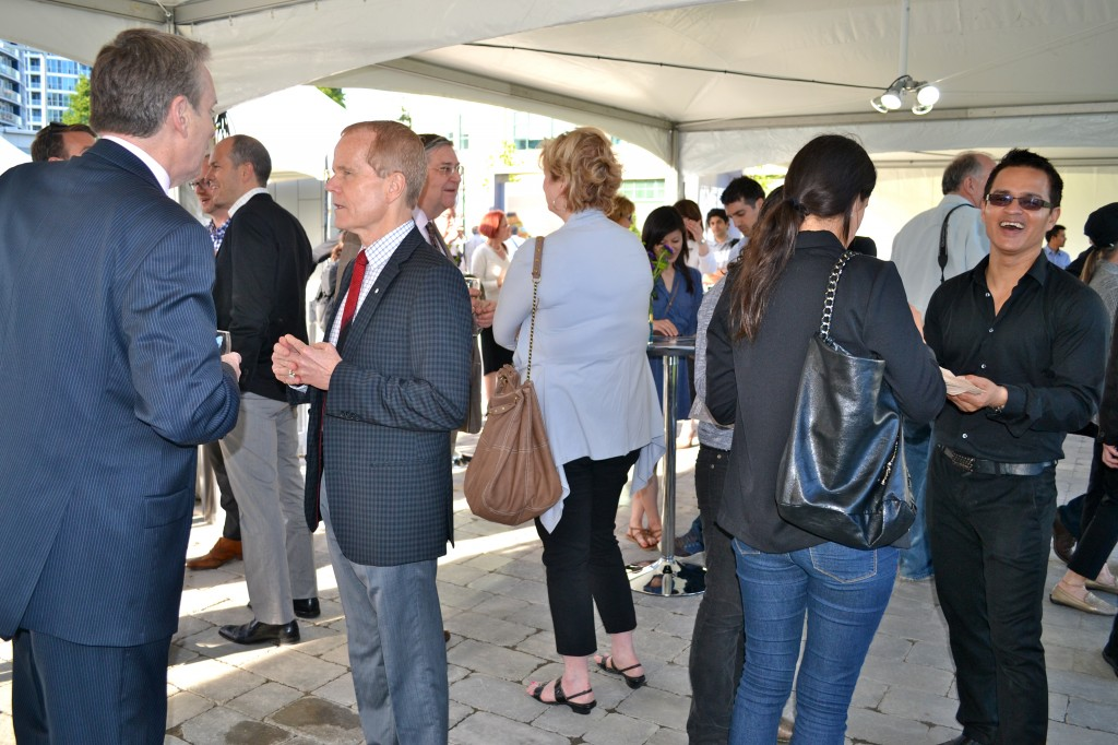 Guests enjoyed food and drinks throughout the event and were able to meet and speak with the artists.