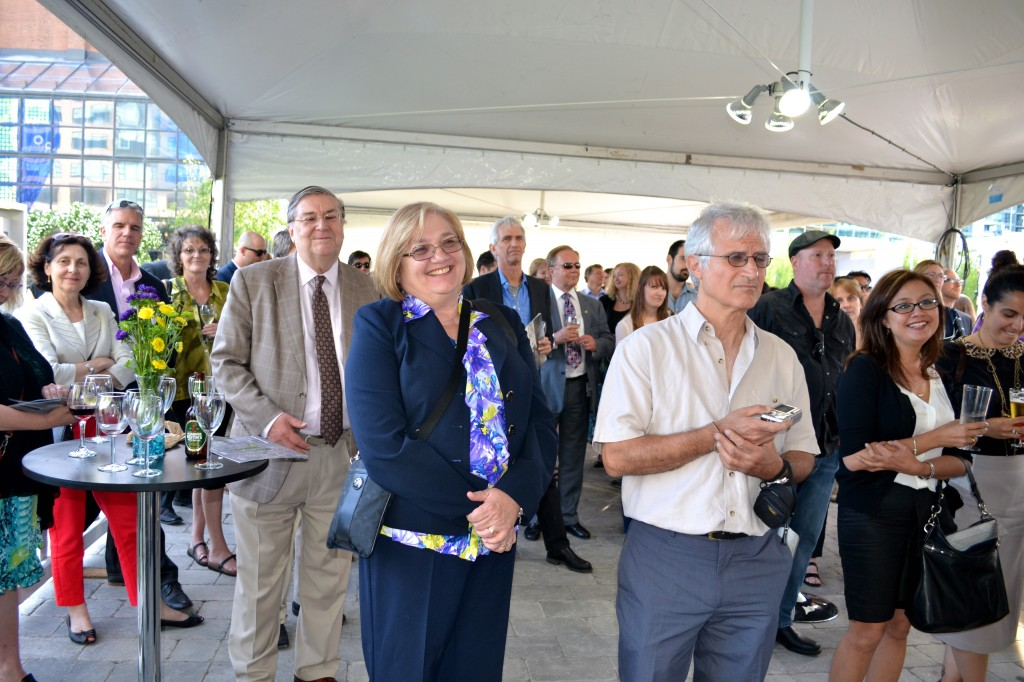 Guests enjoyed listening about each of the six artists.