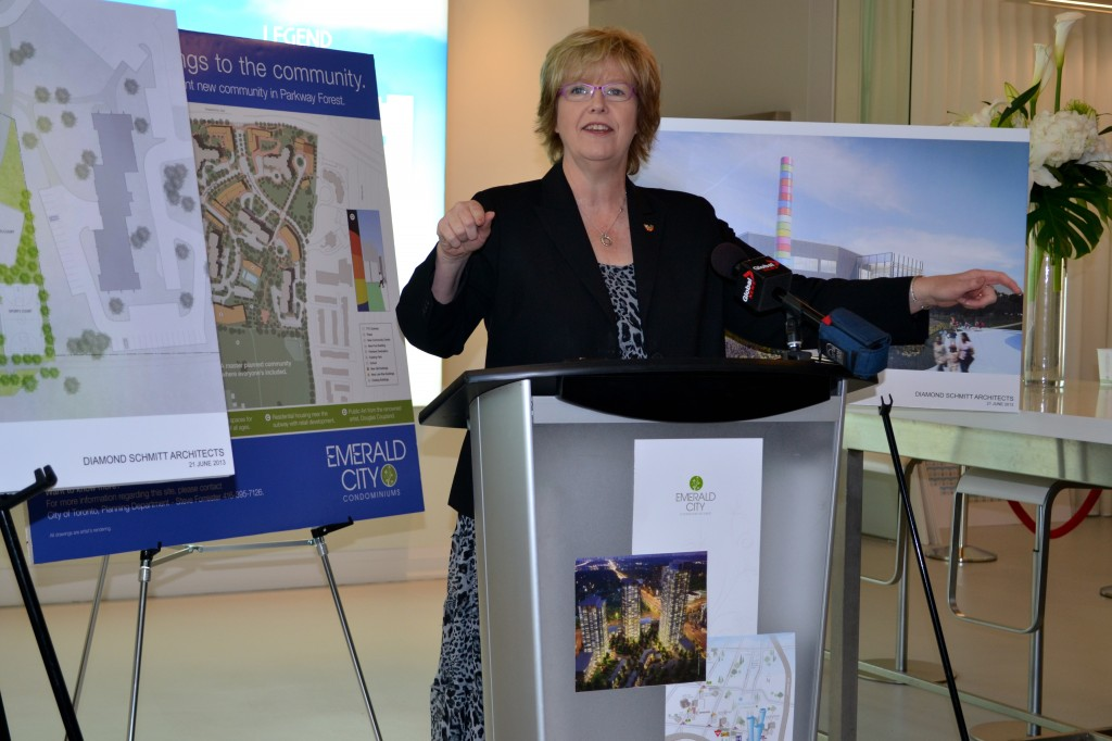 Councillor Shelley Carroll spoke about the positive change the development is going to have on the area.