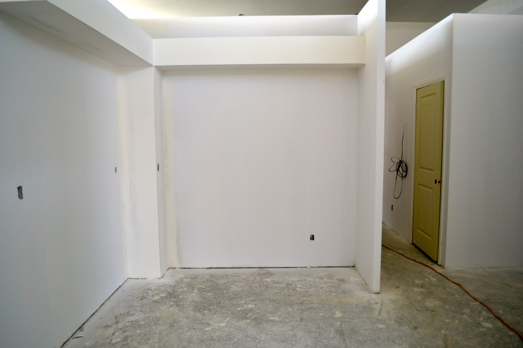 You can't tell now, but soon this room will be filled with a beautiful full size kitchen.