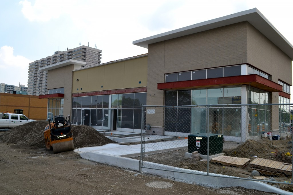 The back of the building will boast plenty of parking spots for guests.