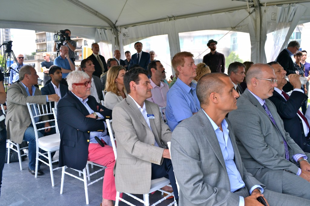 Many industry VIPs as well as area residents attended the event.