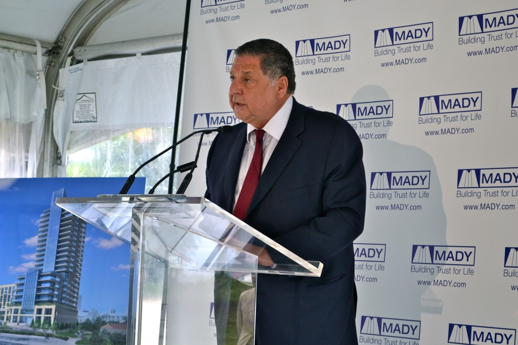 MADY CEO, Charles Mady spoke of his excitement for the project.