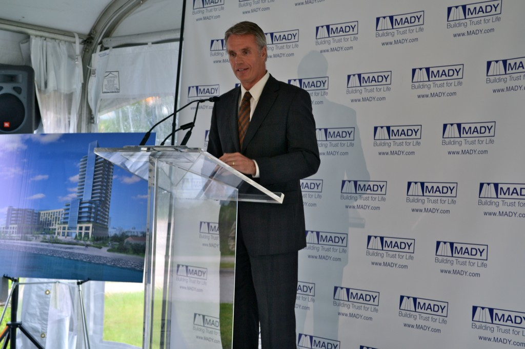 Burlington Mayor Rick Goldring spoke of the positive changes the development will bring to the city's waterfront.