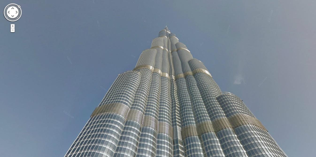 Dubai Burj Khalifa google street view