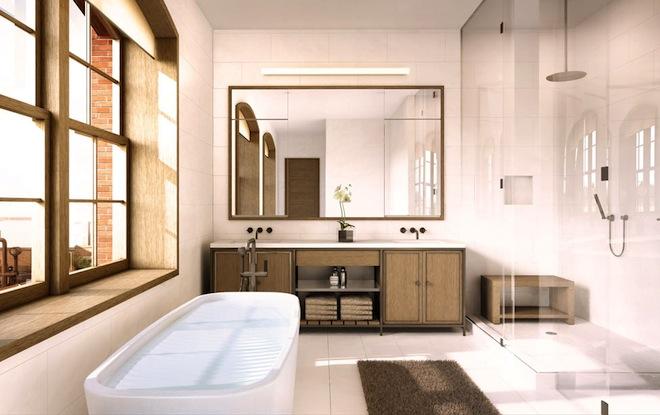 Schumacher master bathroom