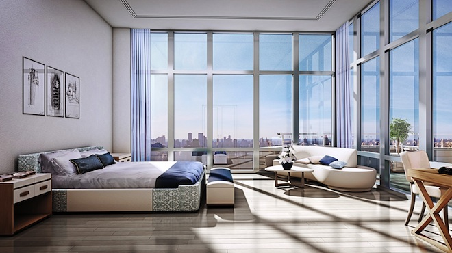 The Charles duplex penthouse bedroom