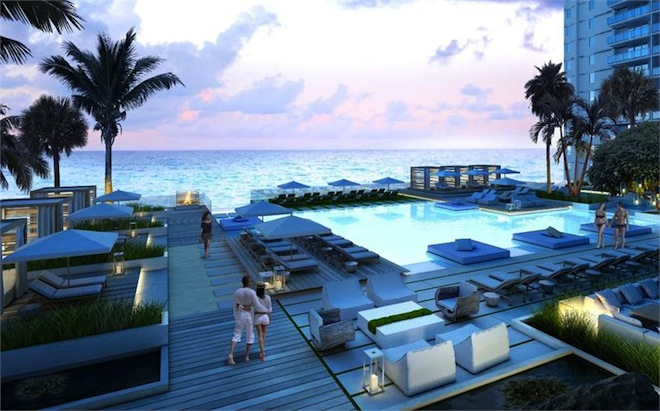 1 Hotel Residences swimming pool