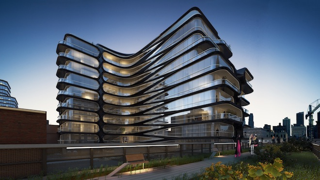 520 West 28th Street rendering - courtesy of Related Companies and Zaha Hadid Architects