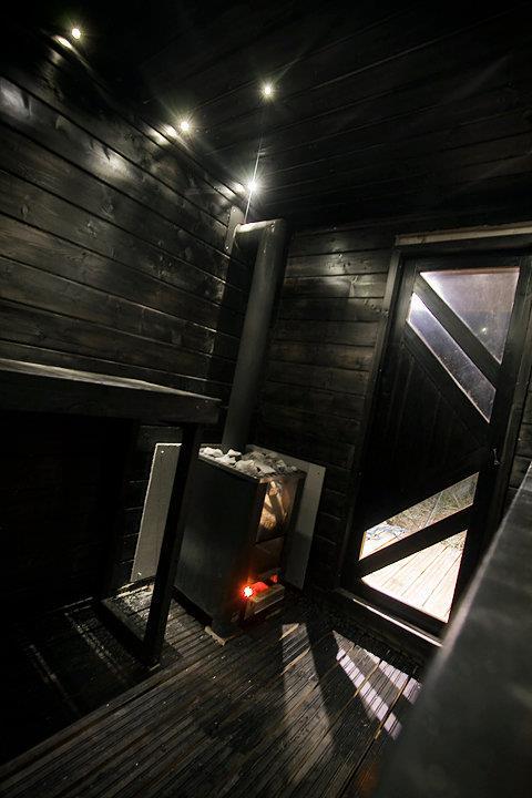 Floating homes - sauna raft interior
