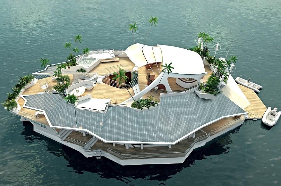 Floating hotel yacht