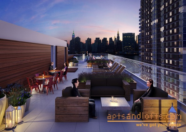 Gantry Park Landing sunset terrace