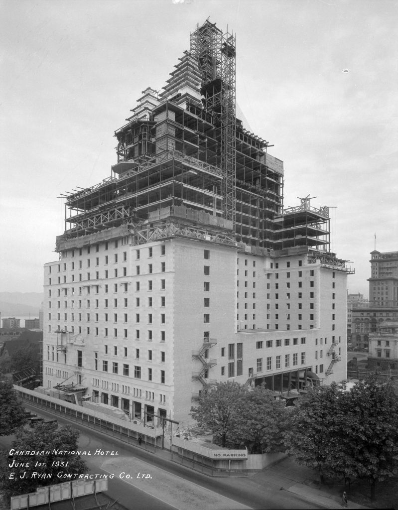 Hotel Vancouver construction