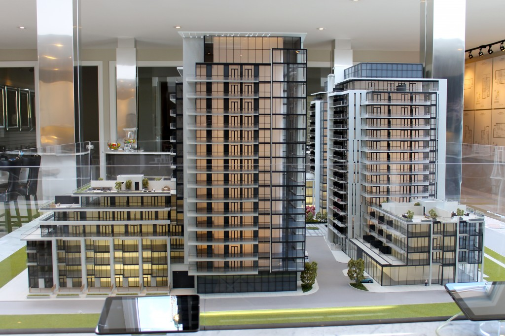 The scale model gives visitors a real feel of what the structure will look like.