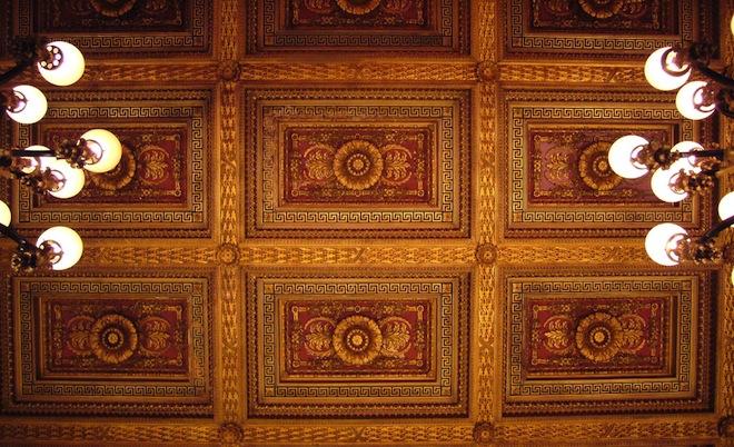 Metropolitan Club ceiling