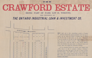 Crawford estate toronto 1885