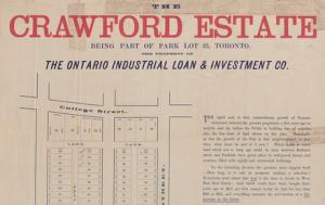 Crawford estate toronto 1885