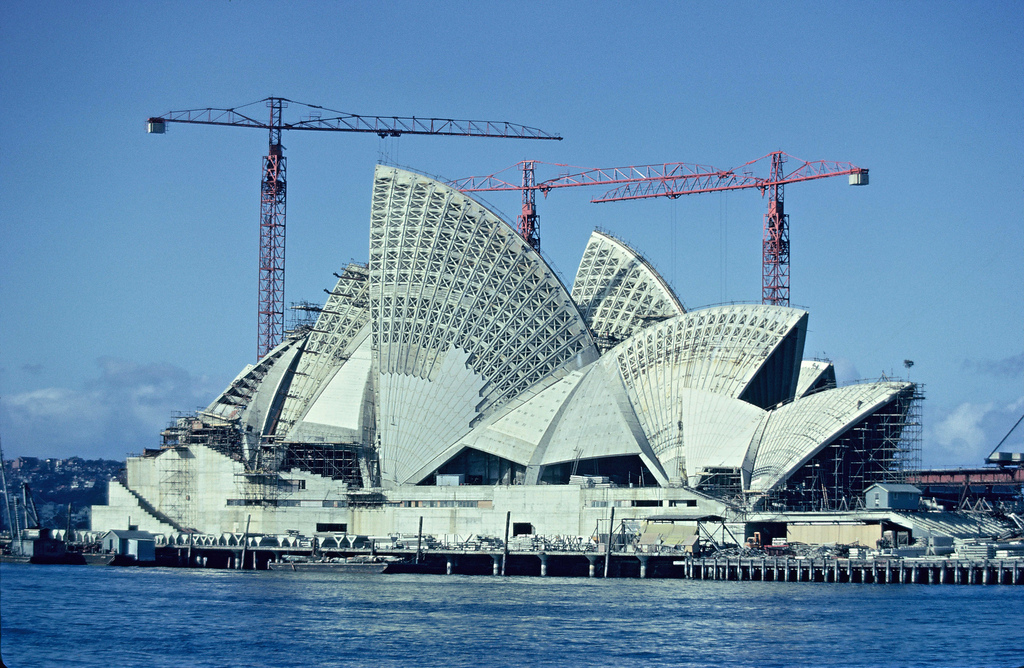 Sydney Opera House construction