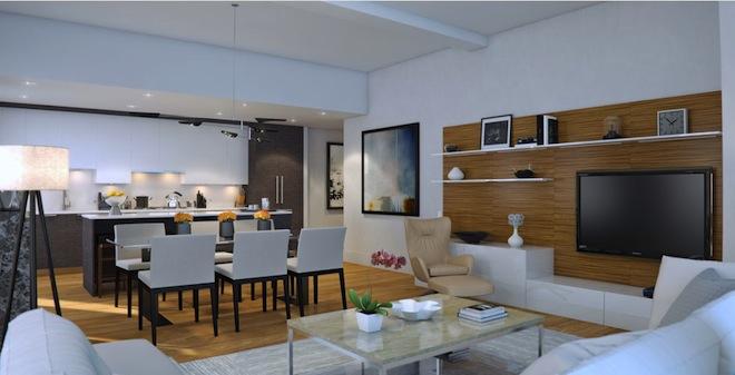 The Leonard living room