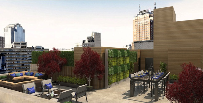 The Leonard roof deck